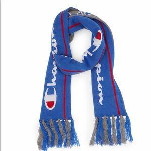 champion reversible scarf blue gray